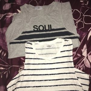 2 soul cycle tank tops Large